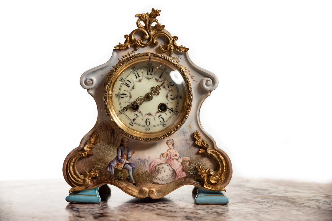 beautiful French timepiece clock
