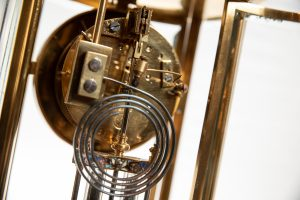 brass carriage clock glass doors