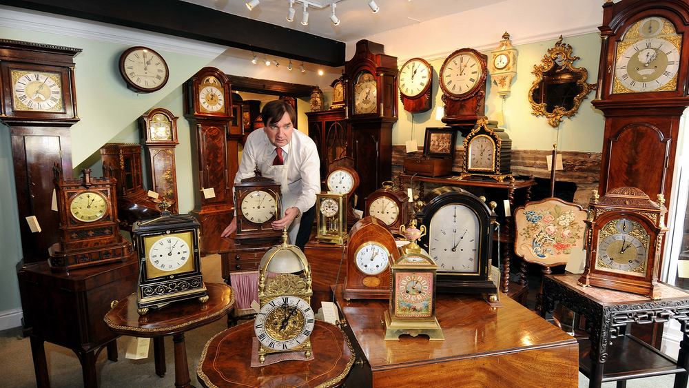 Antique clock shop in Gloucestershire