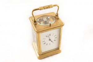 moon face long case clock